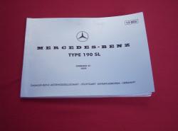 Katalog części Mercedes-Benz W 121 190 SL